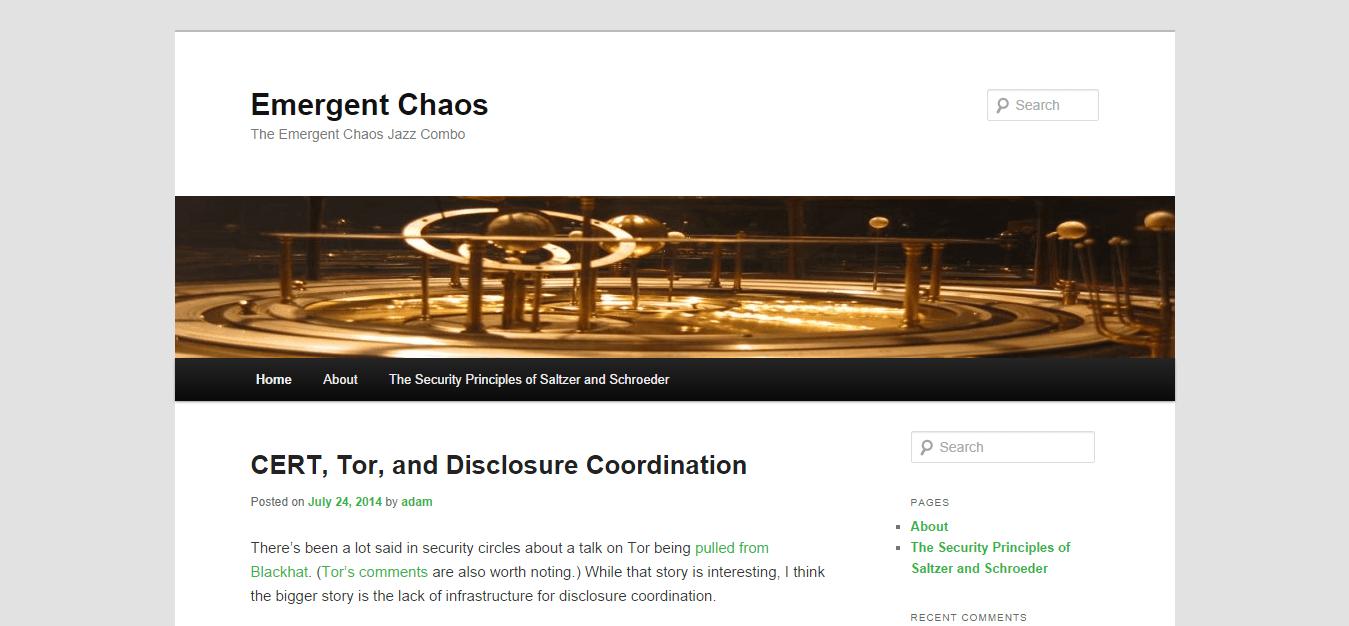Blog Seguridad Emergent Chaos