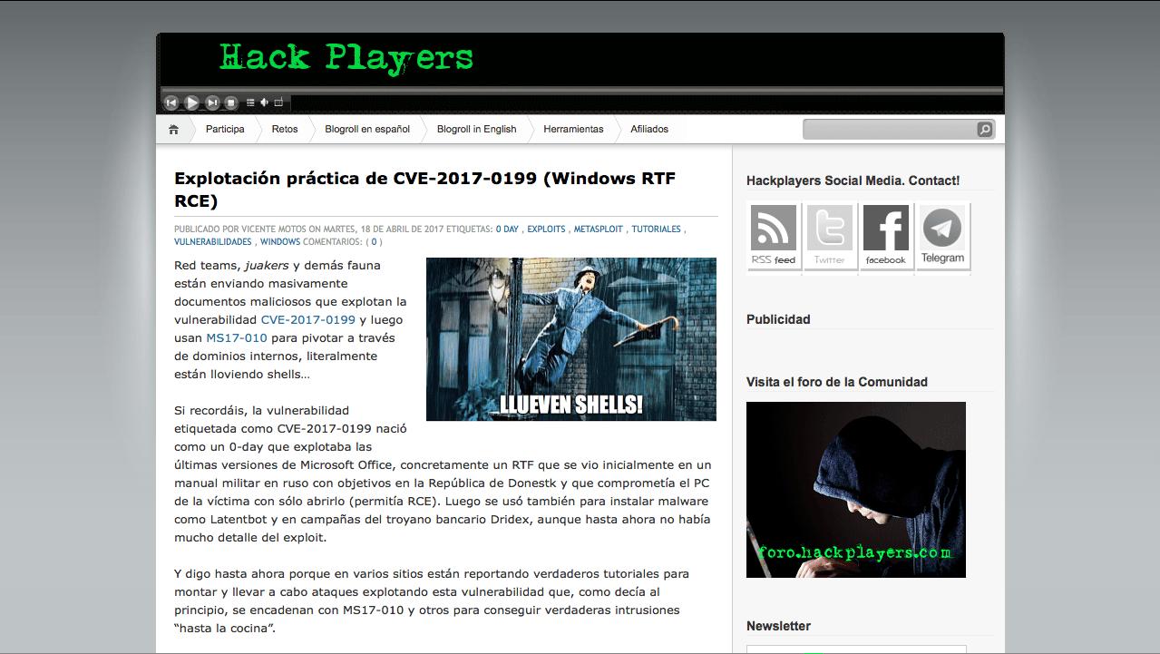 Blog Seguridad HackPlayers