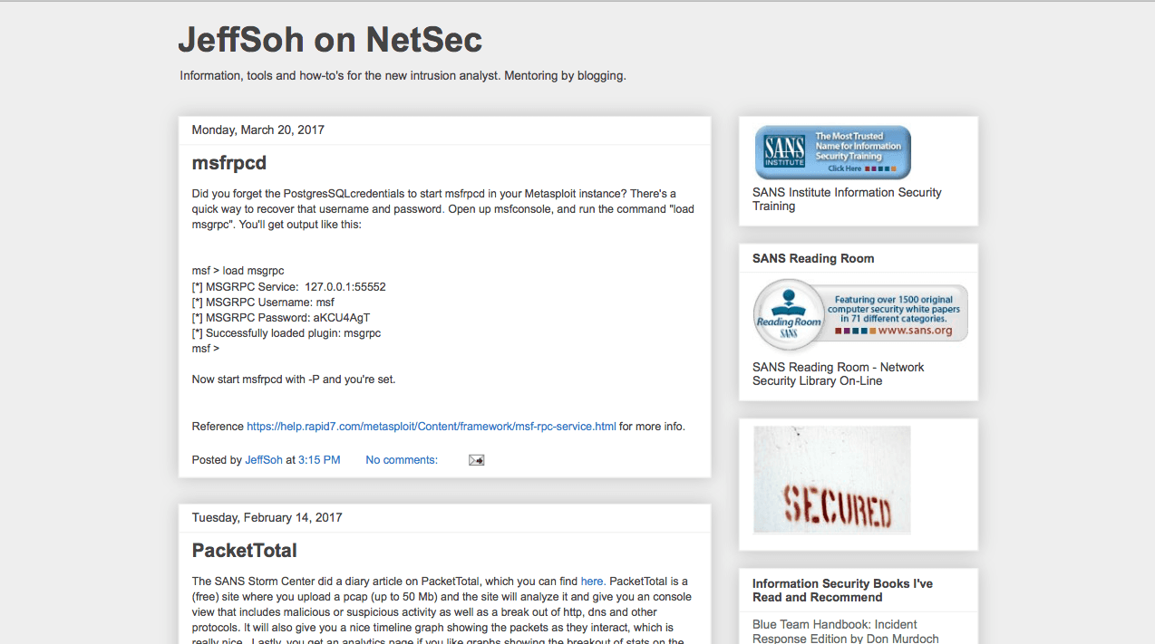 Blog Seguridad Jeff Soh on NetSec