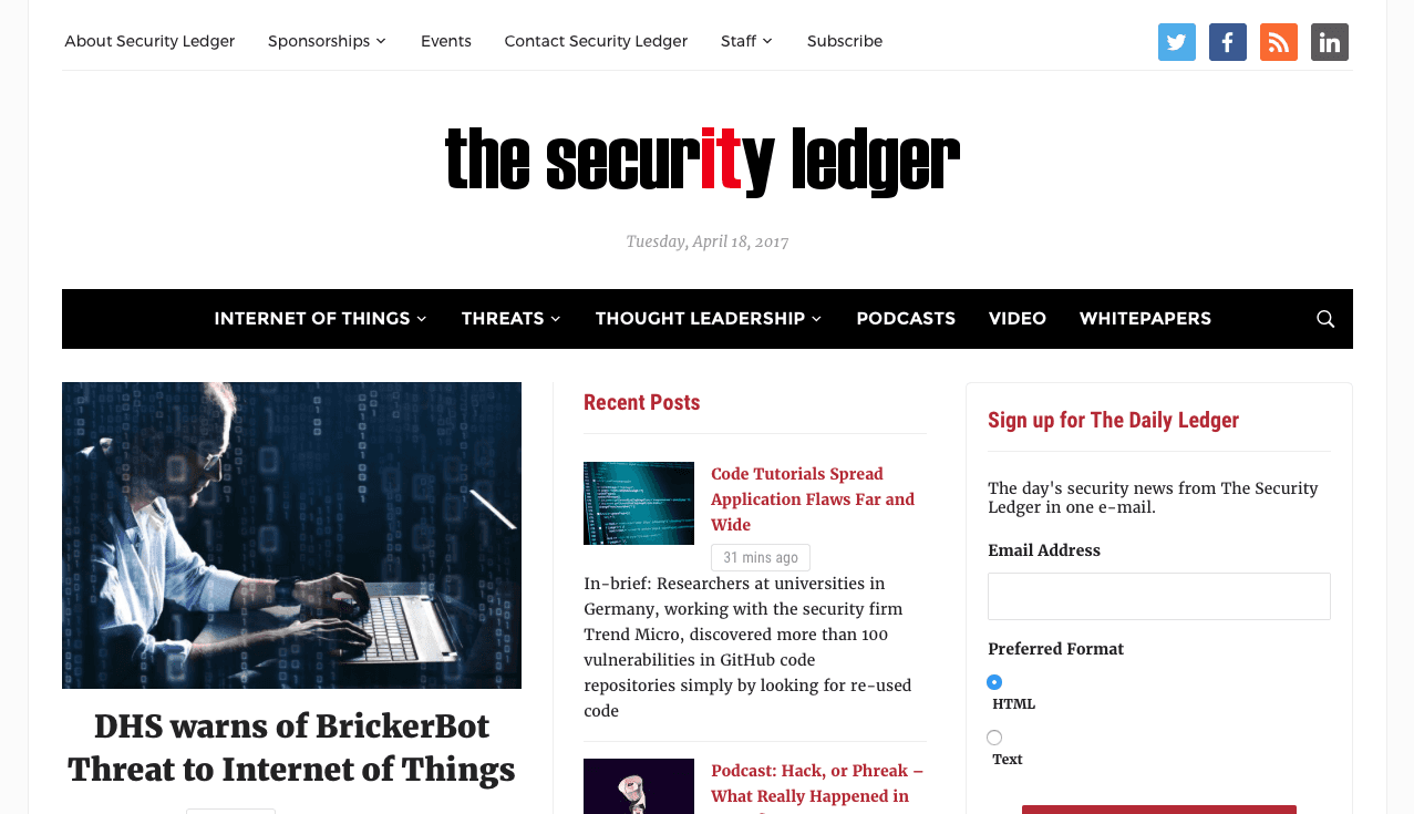 Blog Seguridad The Security Ledger