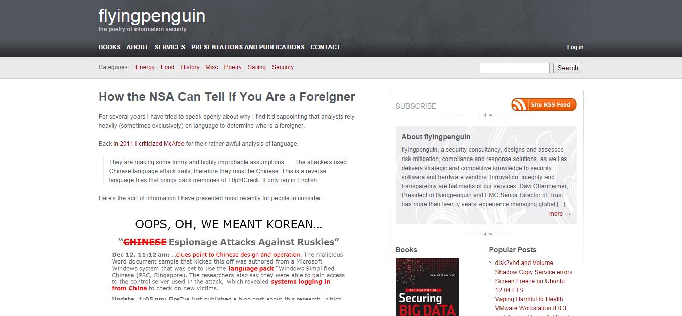 Blog Seguridad Flyingpenguin