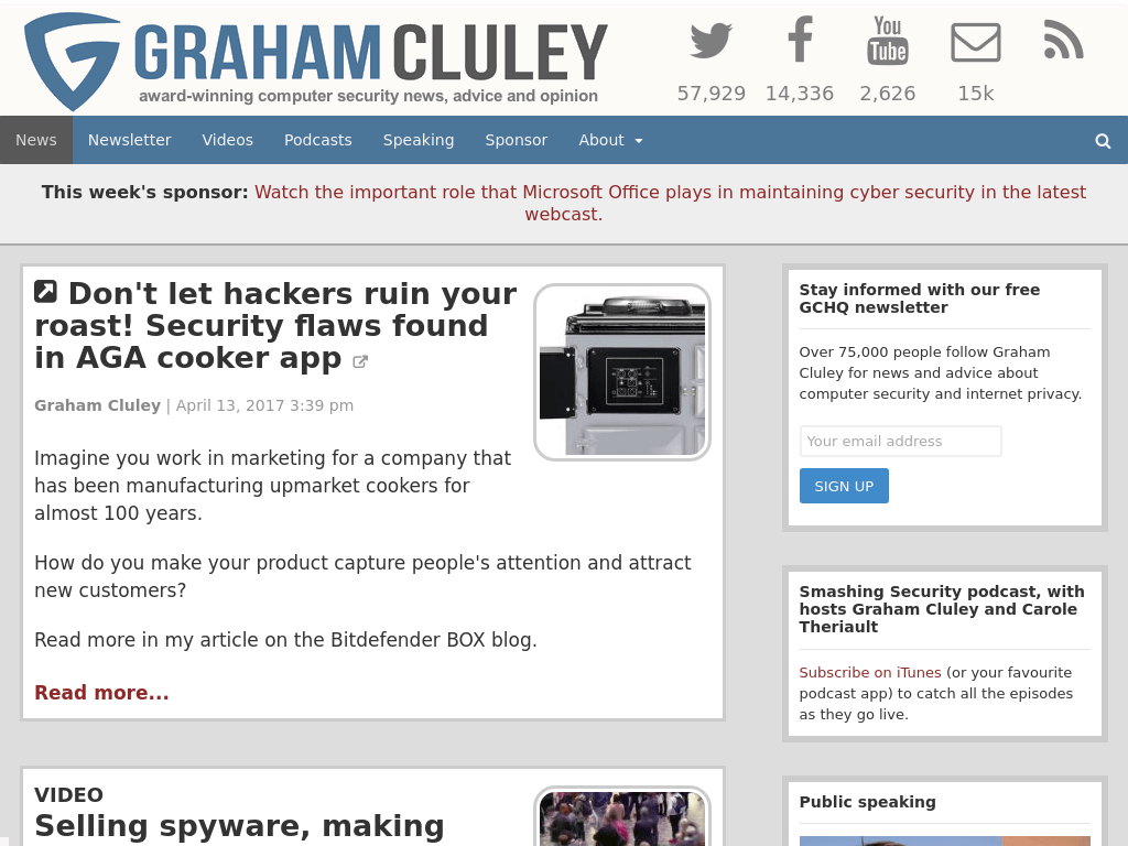 Blog Seguridad Graham Cluley