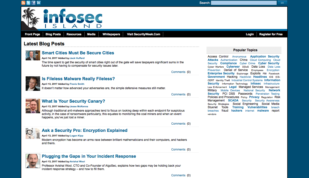 Blog Seguridad InfoSec Island