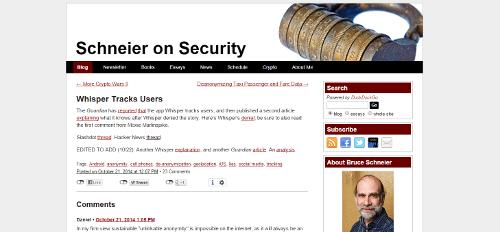 Blog Seguridad Schneier on security