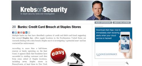 Blog seguridad Krebs