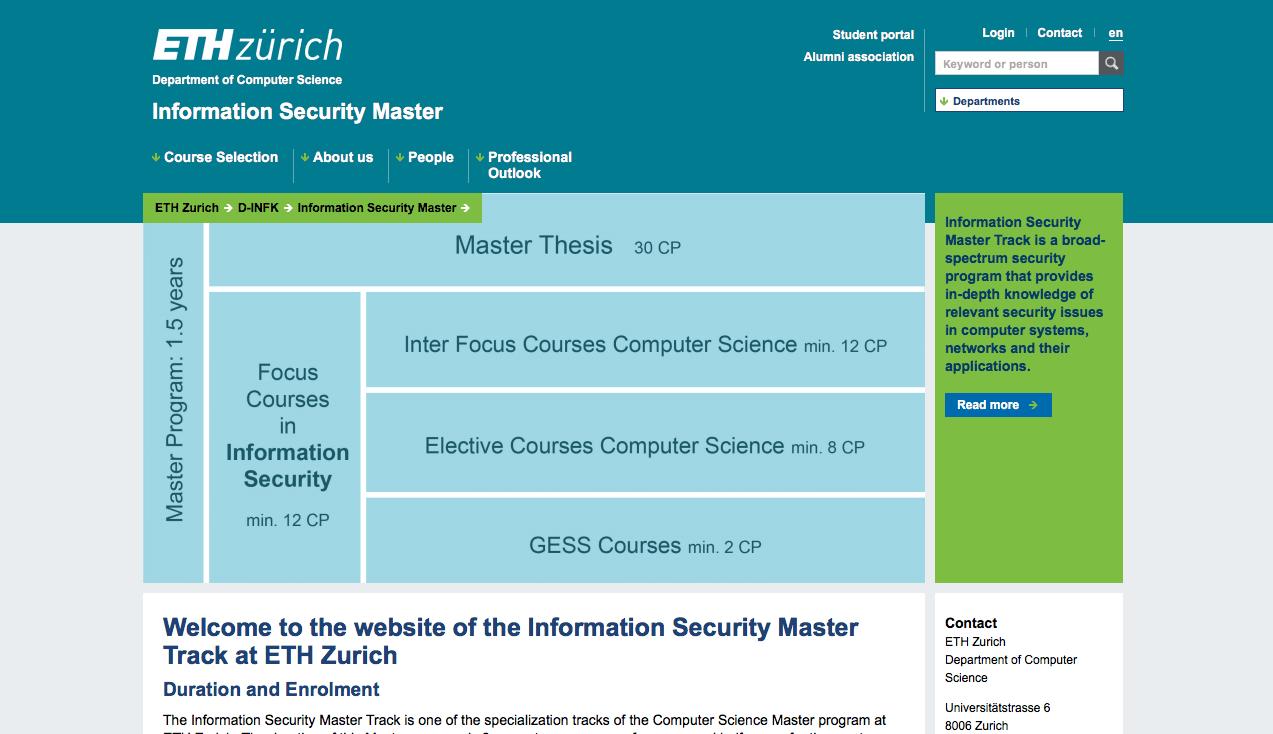 Master Ciberseguridad Suiza